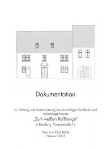 Deckblatt Dokumentation zum Gebäude