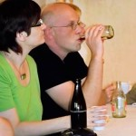 Die Hauptautorin des Konzeptes Fokus Saale Astrid Lindstedt (Saleg) und Baudezernent Holger Köhncke
