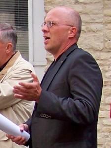 """Holger Köhncke bei einem Ortstermin in der Bernburger """"Freiheit"""" am 20.06.2011"""
