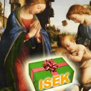 """Quelle: wikipedia (Lorenzo di Credi-Geburt Christi.JPG, Public domin und """"Gift-wraping.jpg"""" Wikipedia, CC BY-SA 3.0, Autor: BlairSnow"""