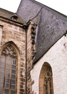 Bernburgs Kirchen (hier die Marienkirche) blieben unvollendet. Nach der Umwandlung zur Residenzstadt diente das Geld der Bürger zur Schuldentilgung der Fürsten.