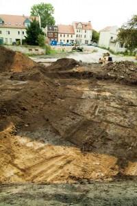 Das erste Foto vom äußeren Burggraben vom 30.08.2011