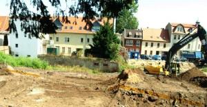 Befund Friedhofsmauer vor der Freilegung