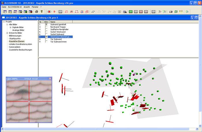 Dann erfolgte die Übetragung der Messpunkte in ein 3d-CAD-System.