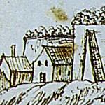 Federzeichnung-Schloss-Bernburg-udn-Bergstadt-um-1700-icon