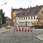 Beginn der Bauarbeiten Leipziger Straße am 21.07.2014