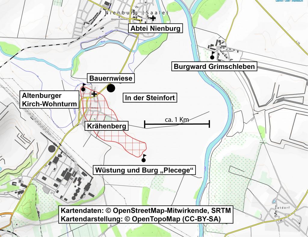 Auswahl einiger historischer Orte um Altenburg.