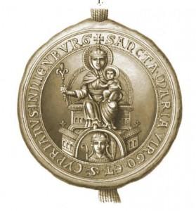 Conventssiegel der Abtei Nienburg. Quelle: Heinemann, CDA 2 (1875) Tafel VIII-1