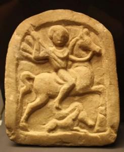 Votivrelief (Votivgabe) eines Thrakischen Reiters, Marmor (Quelle: Wikipedia, GNU General Public License, Bildautor: Apostoloff)